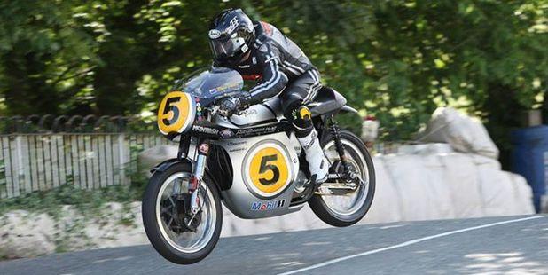 Senior TT winner Bruce Anstey puts the classic bike through its paces.