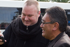 Hone Harawira and Kim Dotcom. File photo / Stephen Parker