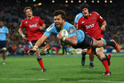 Adam Ashley-Cooper of the Waratahs scores a try during the Super Rugby Grand Final against the Crusaders. Photo / Getty Images