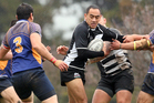 130714bf6 Pikiao player Rhys Hohepa with the ball against Pacific at Puketewhero Park 13 July 2014 Rotorua Daily Post Photograph by Ben Fraser