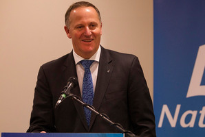 Prime Minister John Key said the cuts were the result of good management of ACC and favourable economic factors. Photo /  Alan Gibson