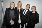 Jason Wu with famous fans Diane Kruger, Gwyneth Paltrow and Reese Witherspoon at his debut New York Fashion Week show. Photo / Hugo Boss.