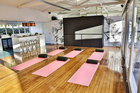 Biba salon in Birkenhead doubles as yoga studio. Picture / Supplied.