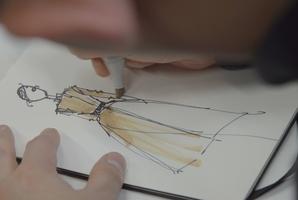 Jason Wu sketching. Photo / Hugo Boss.