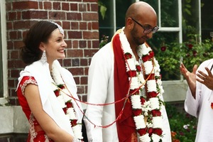Samantha and Kishan Mani had two weddings, one a traditional Hindu ceremony. Picture / Supplied.