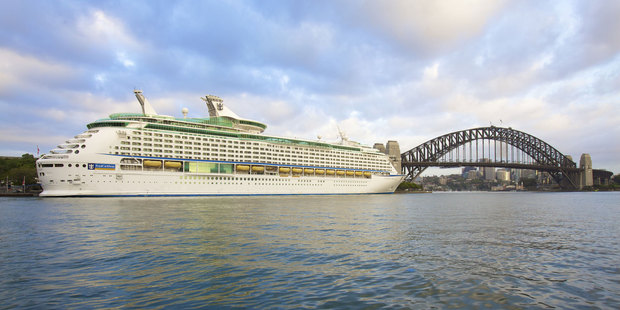 The Voyager of the Seas.