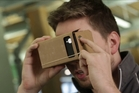 Google's Cardboard virtual reality headset. Photo / Techcrunch.com