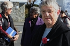 Barbara Elmes at Waipu's WWI memorial service in the town on Tuesday. Photo / John Stone