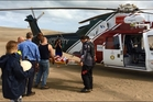 A man was taken to Whangarei Hospital by the Northland Electricity rescue helicopter after rolling a quad bike down sand dunes at Pouto. Photo / Supplied