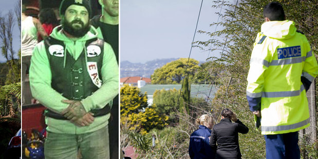 Police remain of the scene of the attack on Connor Morris. Inset, Morris wearing Head Hunter's gear in a recent photo.