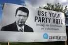 Colin Craig's face is all over town in the lead-up to the election.