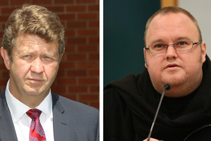 Labour leader David Cunliffe, and Kim Dotcom. Photos / NZ Herald, File