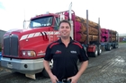 Steve McDougall (pictured) and Mark McCarthy are keeping the logging trucks rolling, despite a drop in log prices.  PHOTO/ LAUREL STOWELL