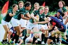 Hawke's Bay's Tania Rosser, left, is the sole Kiwi in the Ireland team at the women's World Cup in France. Photo / Supplied