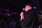Kim Dotcom addresses the crowd in the video posted by Internet Mana. Photo / YouTube