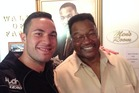 Joseph Parker and Larry Holmes. Photo / File.