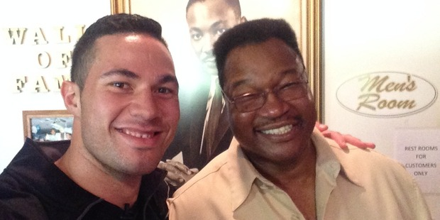 Loading Joseph Parker and Larry Holmes. Photo / File.