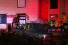 The car had ploughed so deep into the house that it had to be winched out before emergency workers could try to free him