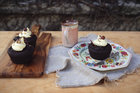Rich and decadent zucchini chocolate cakes. Picture / Eleanor Ozich