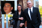 Mona Dudley and Brent Dudley leaving Auckland High Court and, inset, their son Stephen Dudley. Photo / File / Doug Sherring