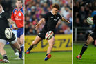 TJ Perenara, Tawera Kerr-Barlow and Aaron Smith have the speed and youth All Blacks selectors are looking for in a halfback. Photos / Brett Phibbs, Getty Images