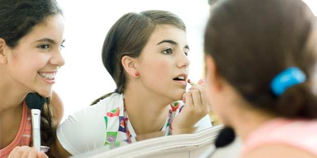 17 per cent of young girls refuse to leave the house without make-up on. Photo / Thinkstock