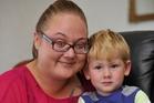 Joelene Andrew is fundraising for son Denon, who faces blindness.  Photo  / Gisborne Herald
