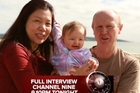 David and Wendy Farnell appeared on 60 Minutes with surrogate daughter Pippah. Photo / 60 Minutes