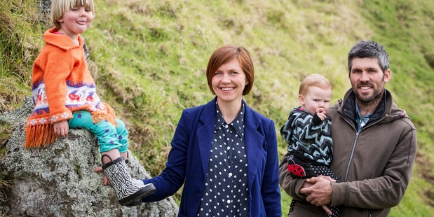 Lucy AitkenRead, pictured with husband Tim and their children Ramano, 3, and Juno, 16 months. Photo / Michael Craig