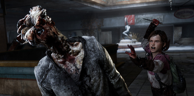 Ellie takes on one of the undead 'Clickers' in The Last of Us Remastered.