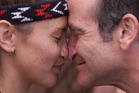 Actor Robin Williams received a traditional Maori welcome during a 1999 visit to New Zealand. Photo / NZ Herald