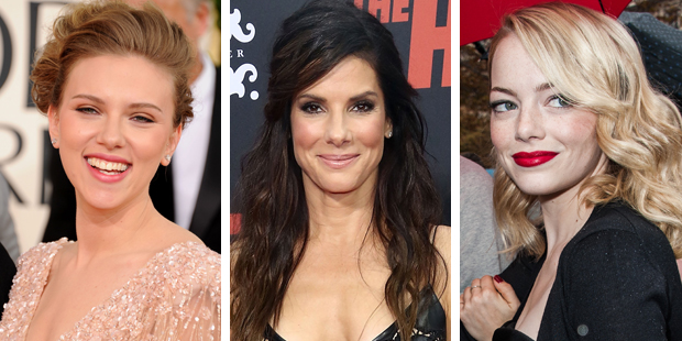 Scarlett Johansson, Sandra Bullock and Emma Stone. Photo / Thinkstock