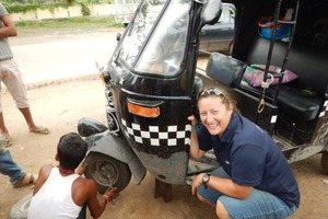 Houhora police officer Tracee Knowler and Advocate reporter Kristin Edge - alias the Chickshaw Blues - are riding the length of India in a tuktuk to raise money for charity