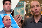 Nicky Hager's book looks at links between blogger Cameron Slater (top left) and the Prime Minister's office. Photo / NZ Herald