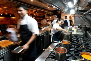 In the kitchen at Indian restaurant Cassia. Photo / Chris Gorman.