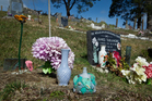 080814sp2 James Takamore's grave in Kutarere. 08 August 2014 Daily Post photograph by Stephen Parker RGP 14Aug14 -
