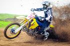 Kaukapakapa's Josh Jack (Suzuki), still the man to beat at Woodhill. Photo / Andy McGechan, BikesportNZ.com