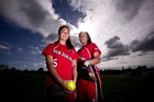 Makayla Mave, left, and Allison Mohi played in the Canada Cup. Photo / Dean Purcell