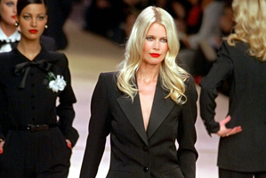 Top model Claudia Schiffer in Yves St Laurent. Photo / Getty Images.