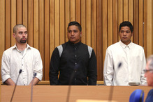 Matthew Kingi (left), Tuhukia Mahia and Shaun Mahia were jailed for robbing the Matua Dairy.