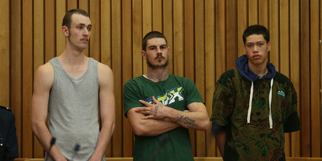 Kevin Guttery, Ari Higgins and Allan Shelford were jailed for the armed robbery of the Z Service Station on 11th Ave.