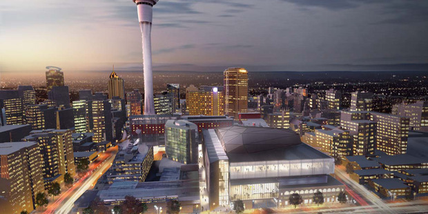 Sky City new concept designs for its Auckland international convention centre
