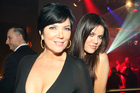 Kris Kardashian (L) and Khloe Kardashian had an on-screen argument over questions from Polly Gillespie. Photo / AP