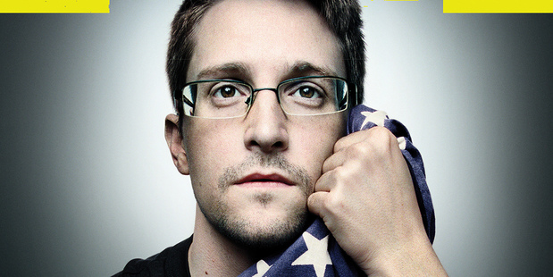 Edward Snowden, shown on the cover of the latest issue of Wired magazine. Photo / AP