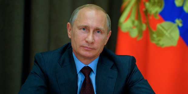 Russian President Vladimir Putin. US oil giant Exxon Mobil began drilling for oil in Russia's Arctic on Saturday. Photo / AP