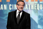 Robin Williams speaking at The 24th American Cinematheque Awards. Photo / AP