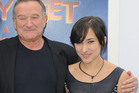 2011 file photo shows actor Robin Williams, left, and his daughter, Zelda. Photo / AP