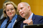 ACC chief executive Scott Pickering, with ACC Minister Judith Collins. Photo / Mark Mitchell