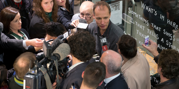 Nicky Hager, at the launch of his latest book, Dirty Politics. Photo / Mark Mitchell