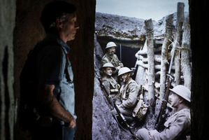 An example of World War I trenches, showing their depth, at the Imperial War Museum in London. Photo / Greg Bowker